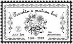 známka poštová cibulák Dubí 155 rokov cibuľový porcelán