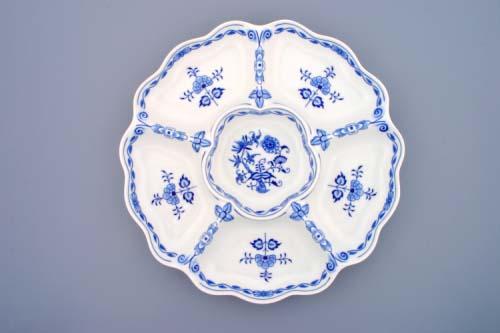 Cibulák misa šesťdielna 35,2 cm cibulový porcelán, originálny cibulák Dubí 1. akosť