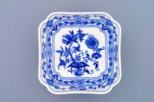 Cibulák misa šalátová štvorhranná vysoká 15 cm cibulový porcelán originálny cibulák Dubí 1. akosť