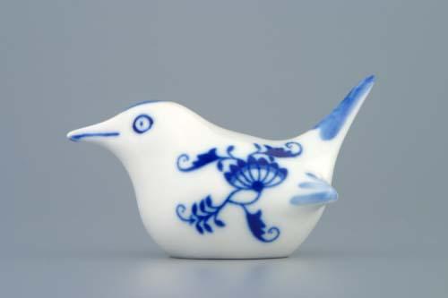Cibulák vtáčik 2 - malý 9 cm cibulový porcelán, originálny cibulák Dubí 1. akosť