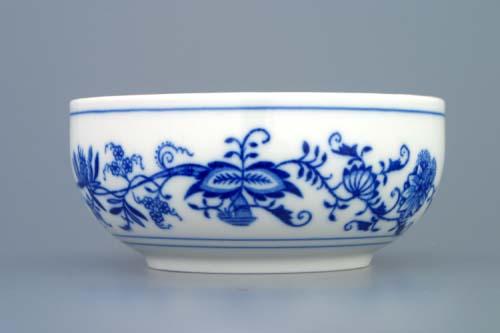 Cibulák miska hladká vysoká 13,2 cm cibulový porcelán, originálny cibulák Dubí 1. akosť