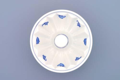 Cibulák bábovka malá 13,7 cm cibulový porcelán, originálny cibulák Dubí, 1. akosť