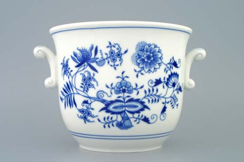 Cibulák kvetináč s ušami 19 cm cibulový porcelán originálny cibulák Dubí 1. akosť