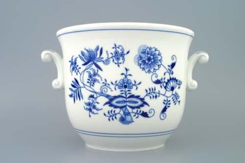 Cibulák kvetináč s ušami 22 cm cibulový porcelán originálny cibulák Dubí 1. akosť