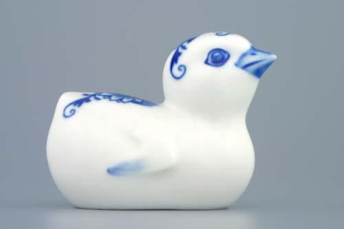 Cibulák kuriatko 8 x 7 cm cibulový porcelán, originálny cibulák Dubí 1. akosť