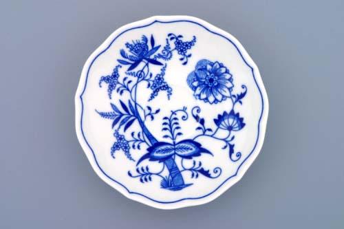 Cibulák podšálka zrkadlová ZB 14 cm cibulový porcelán, originálny cibulák Dubí 1. akosť