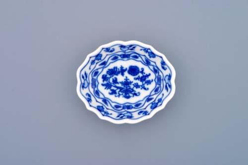Cibulák miska na cukor 9 cm cibulový porcelán, originálny cibulák Dubí 1. akosť