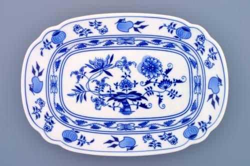 Cibulák misa plochá hranatá 28 cm cibulový porcelán originálny cibulák Dubí 1. akosť