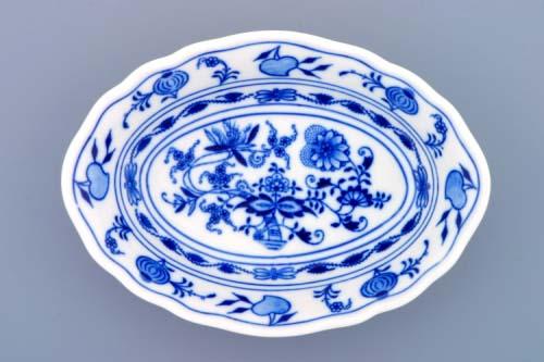 Cibulák miska Ravier oválna 18 cm cibulový porcelán, originálny cibulák Dubí 1. akosť