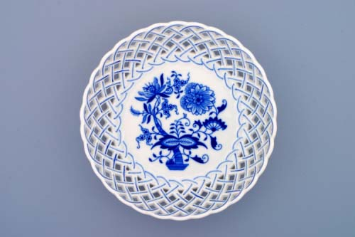 Cibulák misa guľatá, prelamovaná 18 cm cibulový porcelán, originálny cibulák Dubí 1. akosť