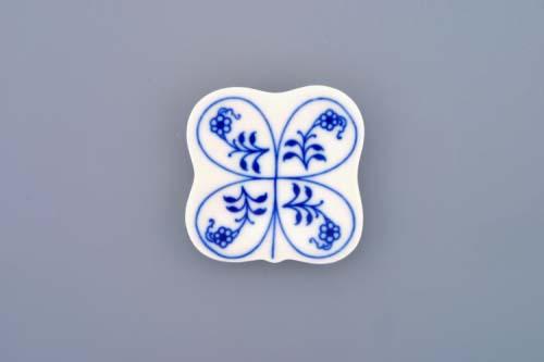 Cibulák podložka pod paličky 5 x 5 cm cibulový porcelán, originálny cibulák Dubí 1. akosť