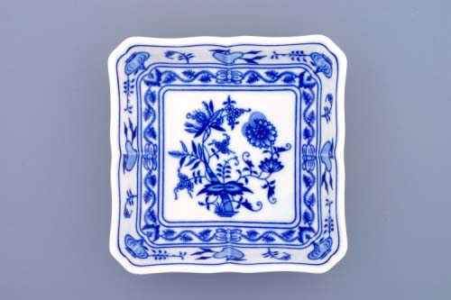 Cibulák misa šalátová štvorhranná 15 cm cibulový porcelán, originálny cibulák Dubí 1. akosť