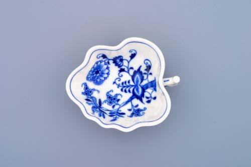 Cibulák cukornička list 10,8 cm cibulový porcelán, originálny cibulák Dubí, 1. akosť