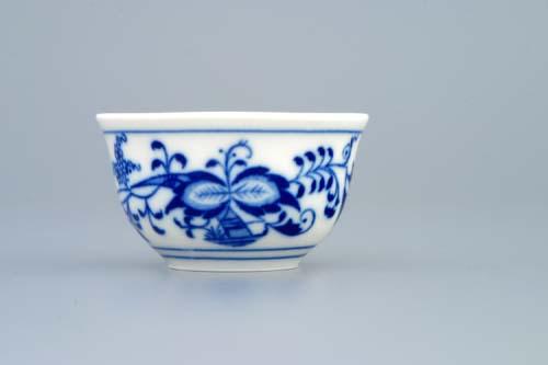 Cibulák kalíšok saké 0,04 l cibulový porcelán, originálny cibulák Dubí 1. akosť