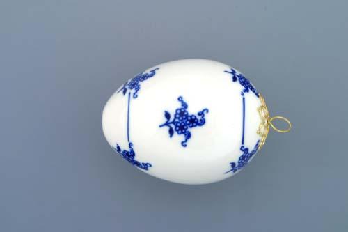Cibulák veľkonočná ozdoba vajíčko závesné 5,6 cm cibulový porcelán, originálny cibulák Dubí 1. akosť