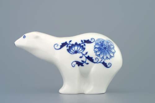 Cibulák medvedík 15 cm cibulový porcelán, originálny cibulák Dubí 1. akosť
