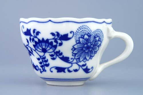 Cibulák šálka vysoká A / 2 0,17 l cibulový porcelán, originálny cibulák Dubí 1. akosť