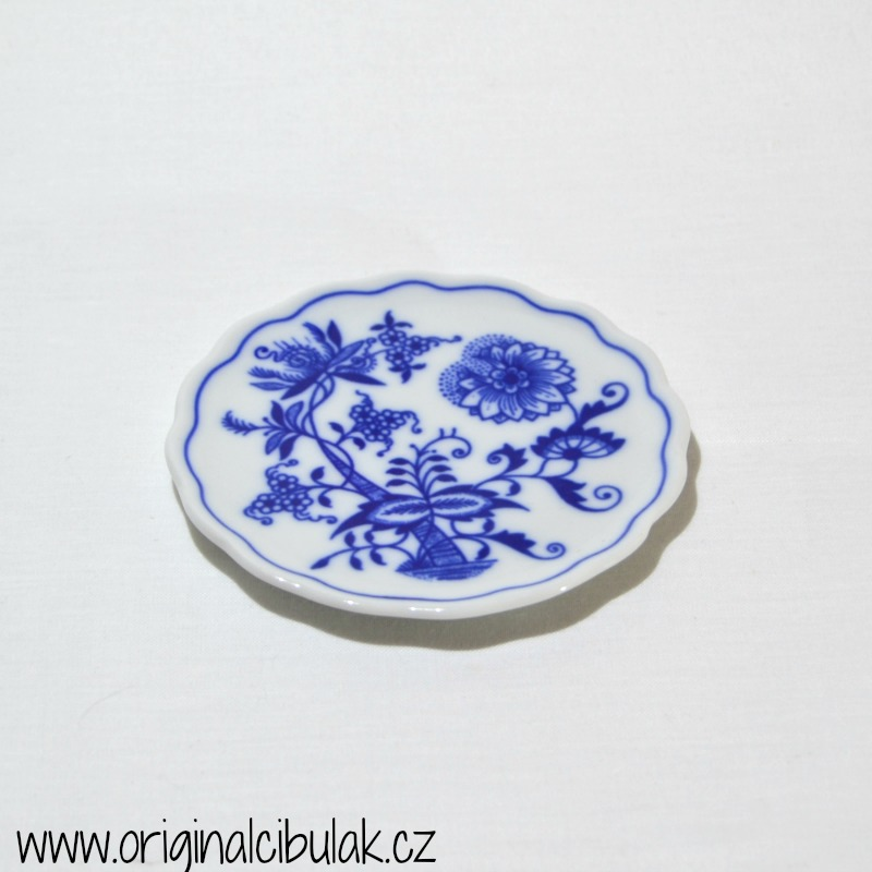 Cibulák podložka pod pohár 10 cm cibulový porcelán, originálny cibulák Dubí 1. akosť