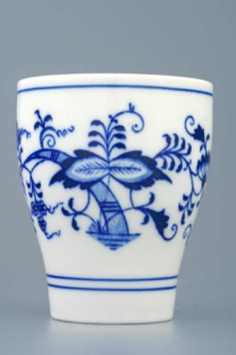 Cibulák pohárik bez ušiek 0,25 l cibuľový porcelán, originálny cibuľák Dubí 1. akosť