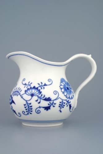 Cibulák džbán baňatý 1,10 l cibulový porcelán, originálny cibulák Dubí, 1. akosť