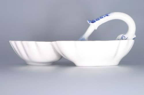 Cibulák kabaret trojdielny 30 cm cibulový porcelán, originálny cibulák Dubí, 1. akosť
