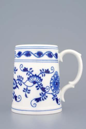 Cibulák korbel hladký 0,50 l cibulový porcelán, originálny porcelán Dubí, 1. akosť