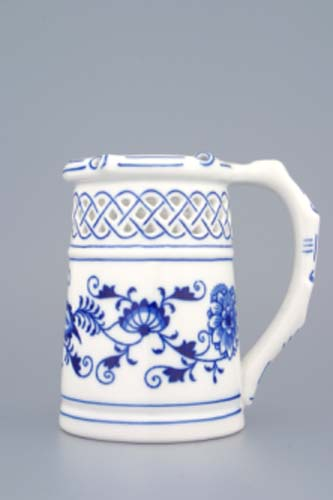 Cibulák korbel prelamovaný 0,40 l cibulový porcelán, originálny cibulák Dubí 1. akosť
