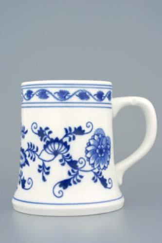 Cibulák korbel Holba 0,50 l cibulový porcelán, originálny cibulák Dubí 1. akosť