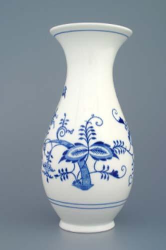 Cibulák váza 1210/3 25,5 cm cibulový porcelán, originálny cibulák Dubí 1. akosť