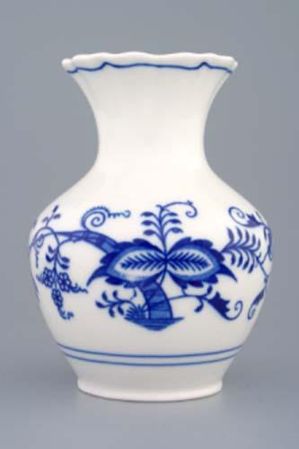 Cibulák váza 2544 13,5 cm cibulový porcelán, originálny cibulák Dubí 1. akosť