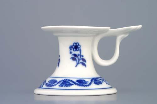 Cibulák svietnik 1991 s uškom 6,5 cm cibulový porcelán, originálny cibulák Dubí 1. akosť