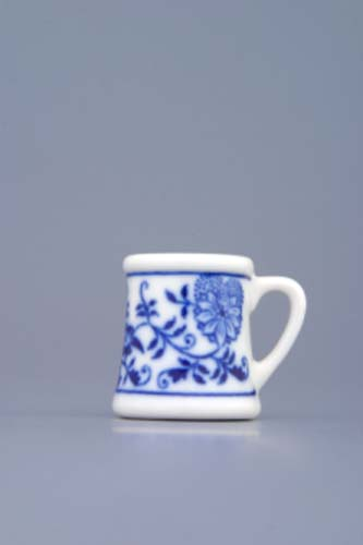 Cibulák korbel mini cibulový porcelán, originálny cibulák Dubí 1. akosť