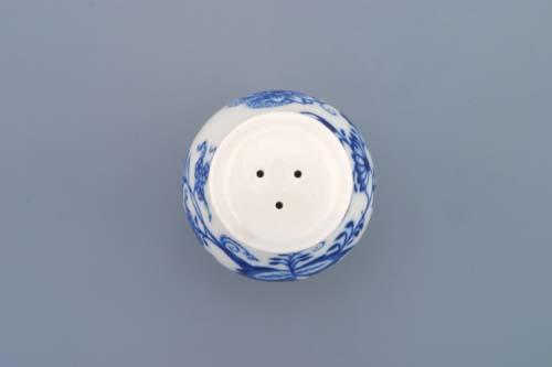Cibulák korenička sypacia s nápisom Pepř 7 cm cibulový porcelán, originálny cibulák Dubí 1. akosť