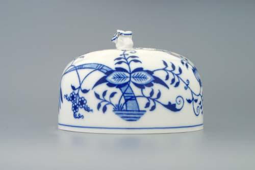 Cibulák dóza na syr, guľatá - vršok 13 cm cibulový porcelán, originálny cibulák Dubí, 1. akosť