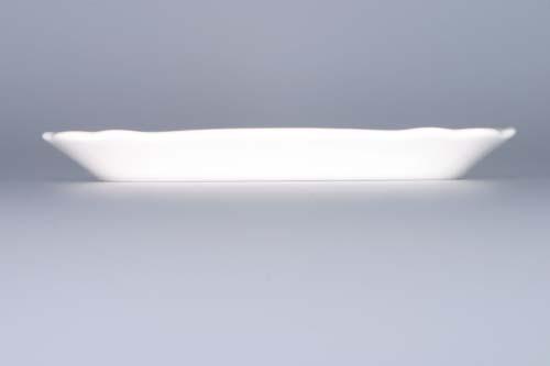 Cibulák maselnička hranatá malá / spodok 17 x 13 cm cibulový porcelán, originálny cibulák Dubí 1. akosť