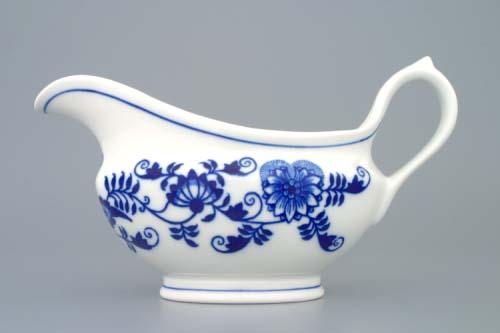 Cibulák omáčnik oválny, bez podstavca s uchom 0,30 l cibulový porcelán, originálny cibulák Dubí 1. akosť