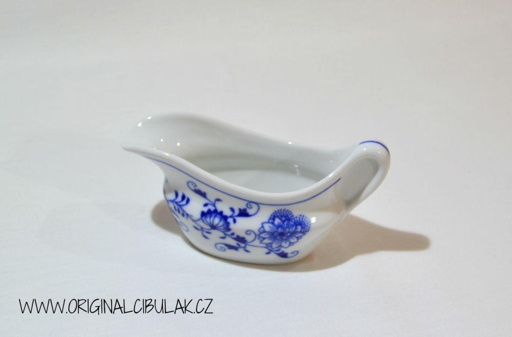 Cibulák omáčnik oválny, bez podstavca s uchom 0,10 l cibulový porcelán, originálny cibulák Dubí 1. akosť