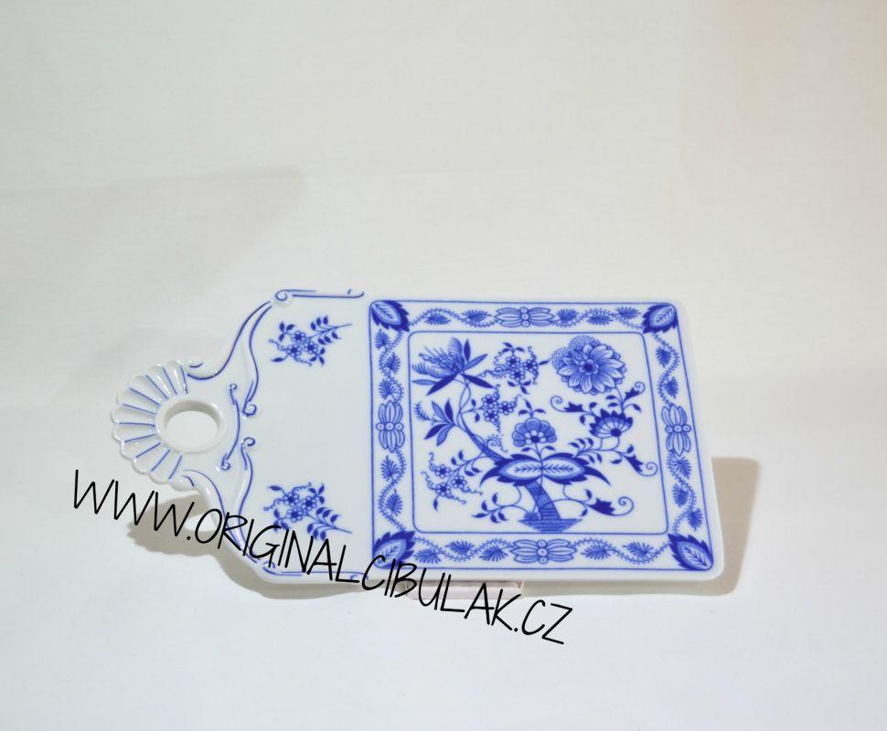 Cibulák podnos na chlieb 27,5 x 16 cm cibulový porcelán, originálny cibulák Dubí 1. akosť