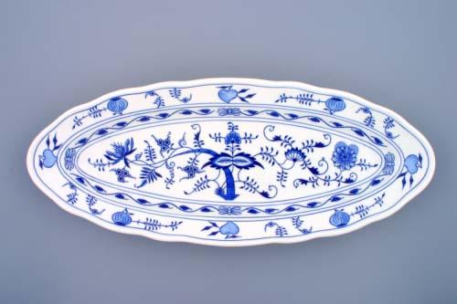 Cibulák misa oválna na ryby 7 cm cibulový porcelán, originálny cibulák Dubí 1. akosť