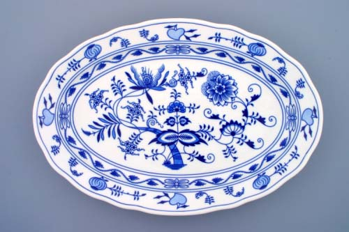 Cibulák misa oválna 43 cm cibulový porcelán, originálny cibulák Dubí 1. akosť