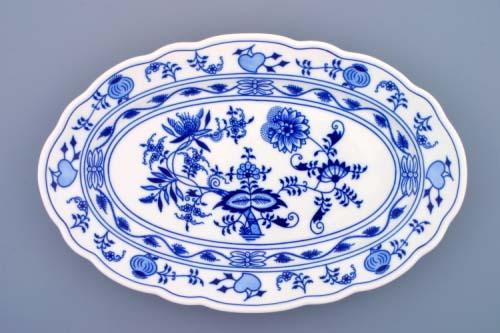 Cibulak misa oválna 35 cm cibulový porcelán, originálny cibulák Dubí 1. akosť