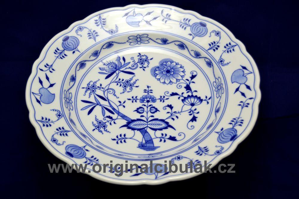 Cibulak misa guľatá, hlboká 34 cm cibulový porcelán, originálny cibulák Dubí 1. akosť