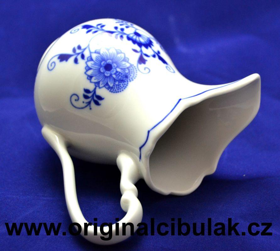 Cibulak kanvička na mlieko vysoká 0,25 l cibulový porcelán, originálny cibulák Dubí 1. akosť