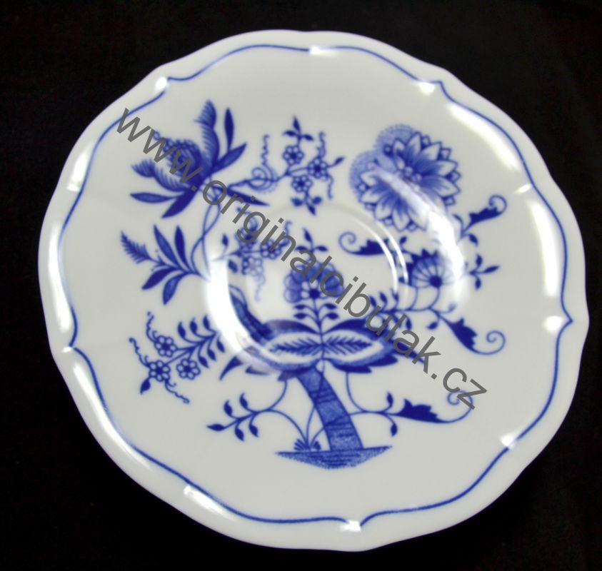 Cibulák podšálka zrkadlová, nízká ZC / 1 15,5 cm cibulový porcelán, originálny cibulák Dubí 1. akosť