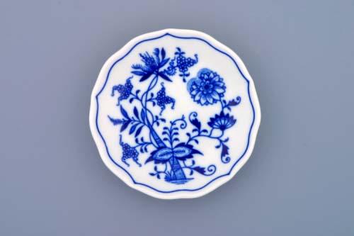 Cibulák podšálka A 11 cm cibulový porcelán, originálny cibulák Dubí 1. akosť