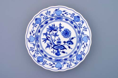 Cibulák tanier plytký 21 cm, cibulový porcelán, originálny cibulák Dubí 1. akosť