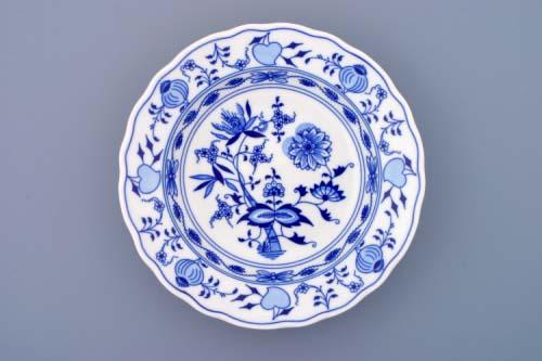 Cibulák tanier hlboký 21 cm cibulový porcelán, originálny cibulák Dubí 1. akosť