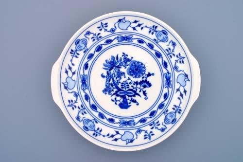 Cibulák tanier kupový s ušami 24 cm cibulový porcelán originálny cibulák Dubí 1. akosť