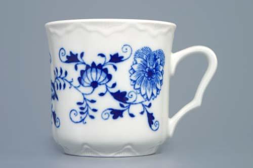 Cibulák hrnček Karel M 0,27 l cibuľový porcelán, originálny cibuľák Dubí, 1. akosť