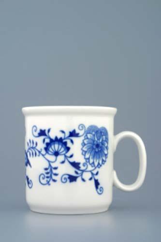 Cibulák hrnček Gaston M, bez liniek 0,22 l cibuľový porcelán, originálny cibuľák Dubí, 1. akosť